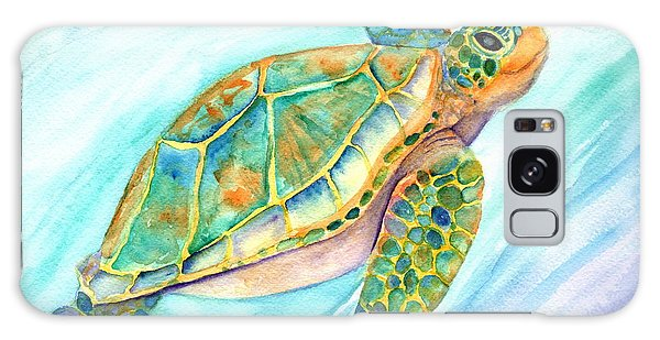 Swimming, Smiling Sea Turtle Galaxy Case