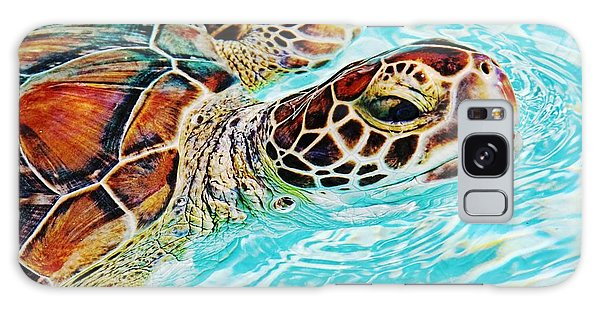Swimming Turtle Galaxy Case