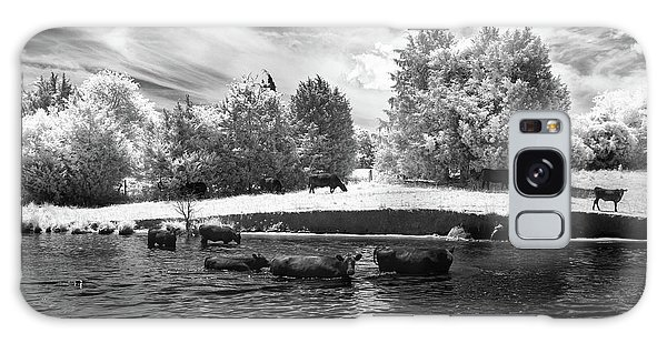 Swimming With Cows II Galaxy Case by Paul Seymour