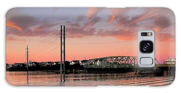 Swing Bridge At Sunset, Topsail Island, North Carolina Galaxy Case by John Pagliuca