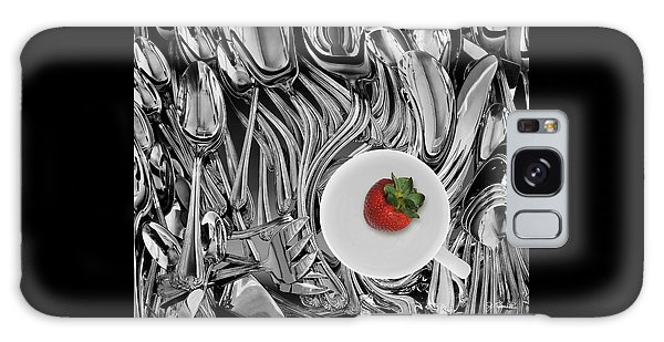 Swirled Flatware And Strawberry Galaxy Case by Joe Bonita