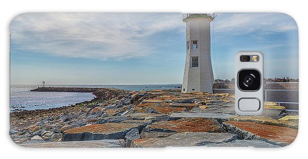Swirling Clouds At Scituate Lighthouse Galaxy Case