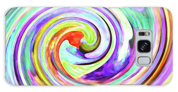 Swirling Leaves 2 Galaxy Case by Margaret Saheed