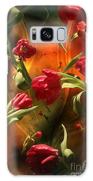 Swirling Tulips Galaxy Case by Johnny Hildingsson