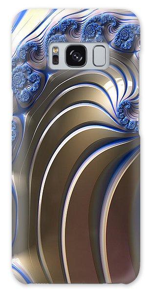 Swirly Blue Fractal Art Galaxy Case by Bonnie Bruno