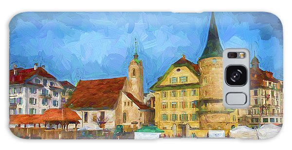 Swiss Town Galaxy Case by Pravine Chester