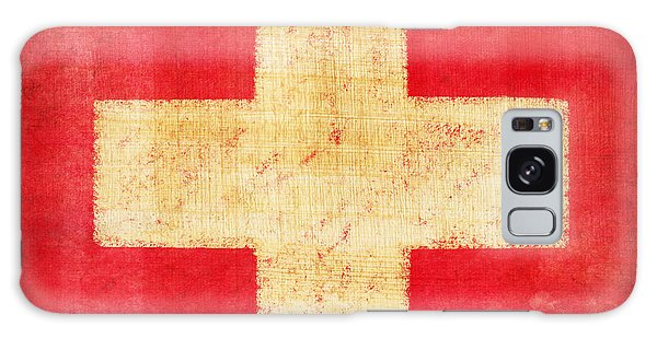 Switzerland Flag Galaxy Case by Setsiri Silapasuwanchai