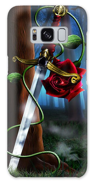Sword And Rose Galaxy Case