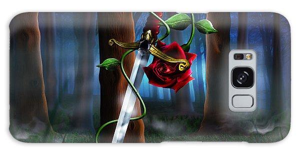 Metal Leaf Galaxy Case - Sword And Rose by Alessandro Della Pietra