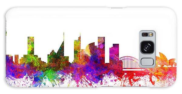 Sydney Skyline Galaxy Case - Sydney Australia Cityscape 02 by Aged Pixel