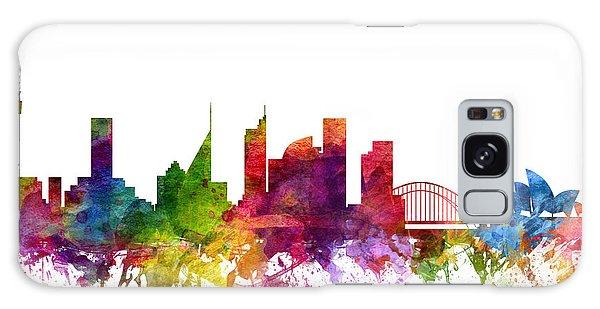 Sydney Skyline Galaxy Case - Sydney Australia Cityscape 06 by Aged Pixel
