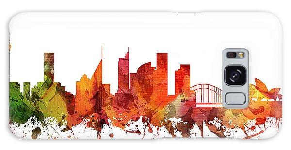 Sydney Skyline Galaxy Case - Sydney Cityscape 04 by Aged Pixel