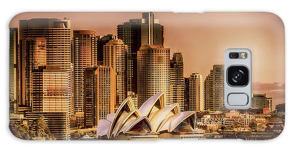 Galaxy Case featuring the photograph Sydney Cityscape by Wallaroo Images