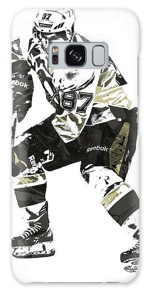 Sydney Crosby Pittsburgh Penguins Pixel Art3 Galaxy Case by Joe Hamilton