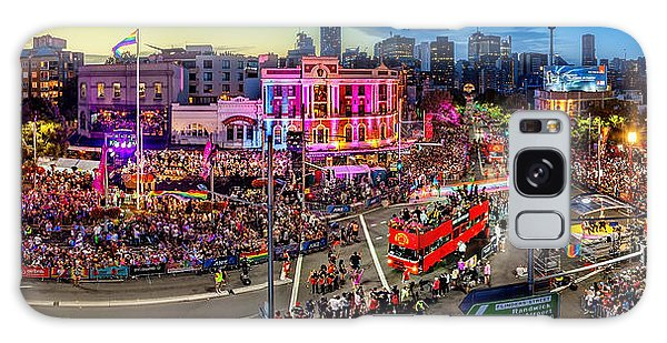 Sydney Skyline Galaxy Case - Sydney Gay And Lesbian Mardi Gras Parade by Az Jackson