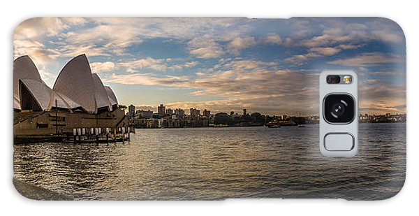 Sydney Harbor Galaxy Case by Andrew Matwijec