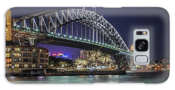 Sydney Harbor Bridge At Night Galaxy Case