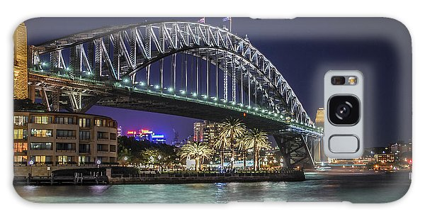 Sydney Harbor Bridge At Night Galaxy Case