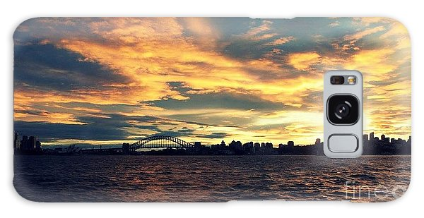Sydney Harbour At Sunset Galaxy Case by Leanne Seymour