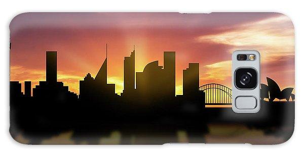 Sydney Skyline Sunset Ausy22 Galaxy Case