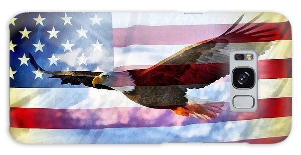 Usa Flag And Eagle Galaxy Case