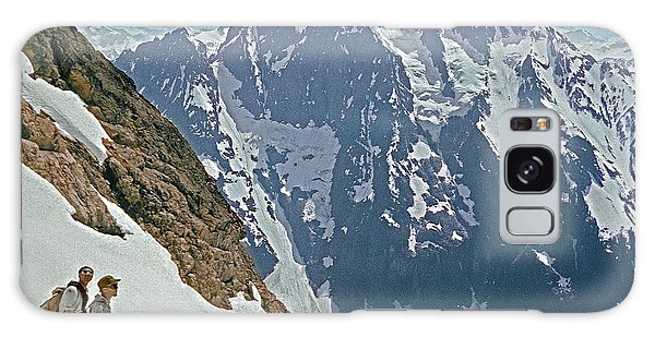 T-04402 Fred Beckey And Joe Hieb After First Ascent Forbidden Peak Galaxy Case