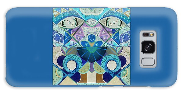 Organic Abstraction Galaxy Case - T J O D Tile Variation 3 Inverted by Helena Tiainen