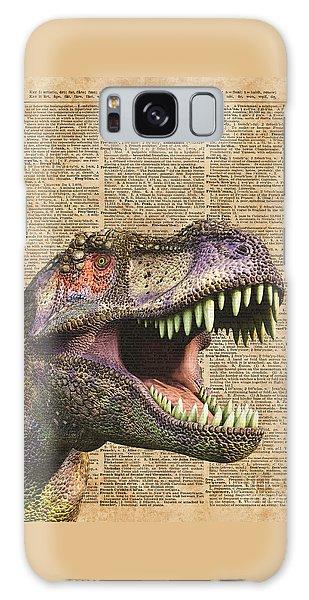 T-rex,tyrannosaurus,dinosaur Vintage Dictionary Art Galaxy Case