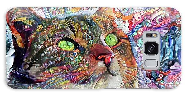 Tabby Cat Color Blast Galaxy Case