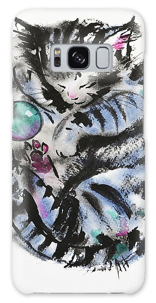 Tabby Dreams Galaxy Case by Zaira Dzhaubaeva