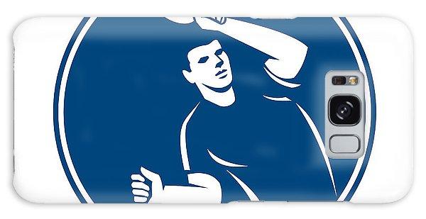 Sportsman Galaxy Case - Table Tennis Player Serving Circle Icon by Aloysius Patrimonio