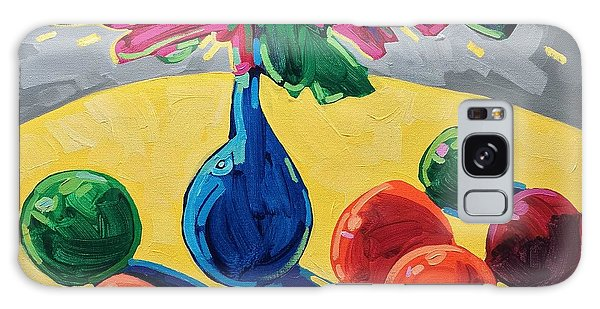 Table With Fruits And Flowers Galaxy Case
