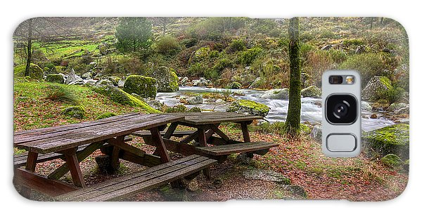 Picnic Table Galaxy Case - Tables By The River by Carlos Caetano
