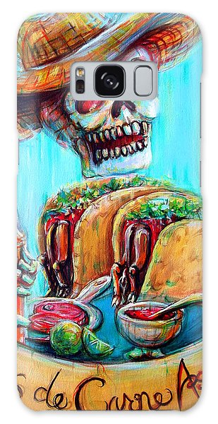 Skull Galaxy Case - Tacos De Carne Asada by Heather Calderon