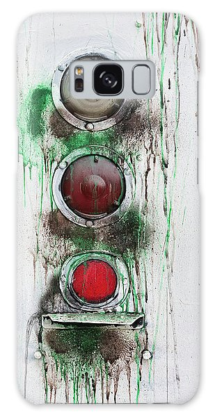 Galaxy Case featuring the photograph Taillights On A Very Old Bus by Gary Slawsky
