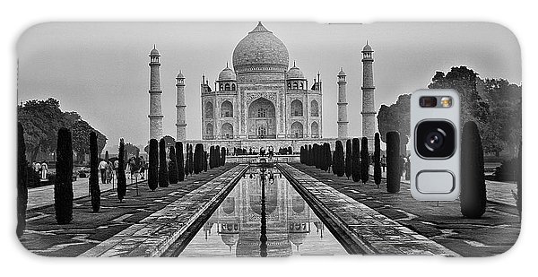 Taj Mahal In Black And White Galaxy Case by Jacqi Elmslie