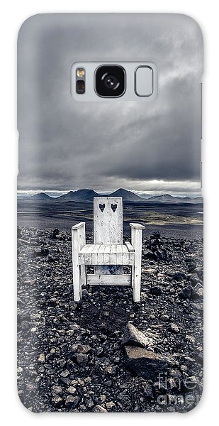 Galaxy Case featuring the photograph Take A Seat Iceland by Edward Fielding