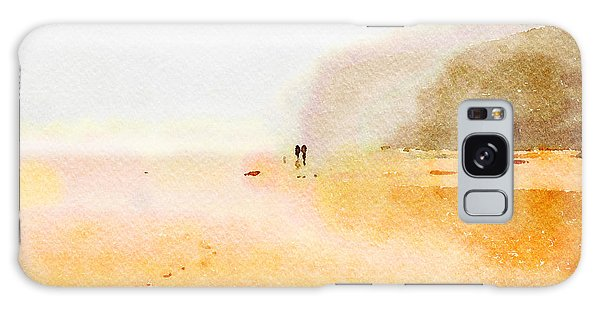 Galaxy Case featuring the painting Take A Walk With Me by Angela Treat Lyon