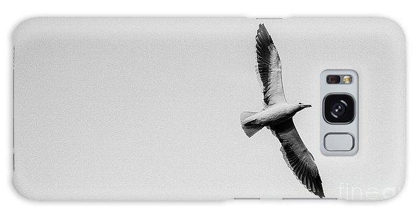 Take Flight, Black And White Galaxy Case