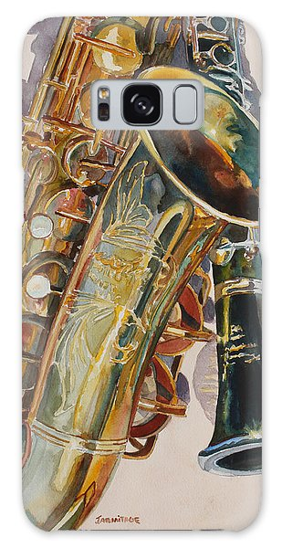 Saxophone Galaxy S8 Case - Taking A Shine To Each Other by Jenny Armitage