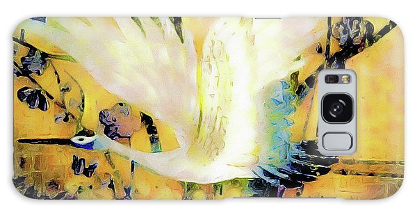 Taking Wing Above The Garden - Kimono Series Galaxy Case