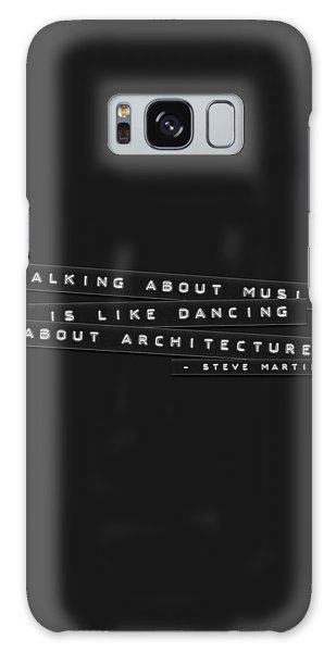 Galaxy Case featuring the photograph Talking About Music Embossed Labels by Brian Carson
