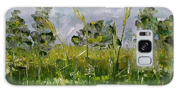 Galaxy Case featuring the painting Tall Grass by Judith Rhue