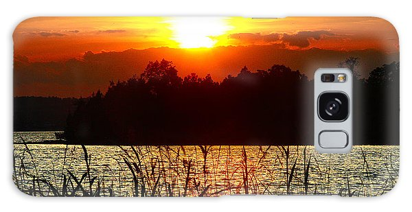 Tall Grass Sunset 2 Smith Mountain Lake Galaxy Case by The American Shutterbug Society
