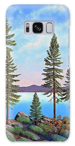 Tall Pines Of Lake Tahoe Galaxy Case