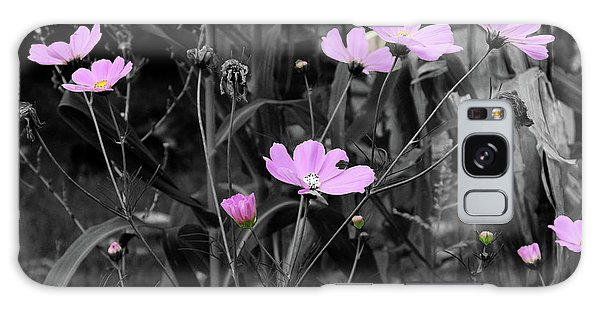 Tall Pink Poppies Galaxy Case