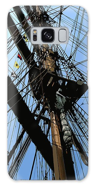 Galaxy Case featuring the digital art Tall Ship Design By John Foster Dyess by John Dyess