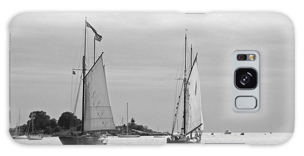 Tall Ships Sailing I In Black And White Galaxy Case by Suzanne Gaff