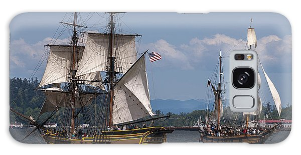 Tall Ships Square Off Galaxy Case