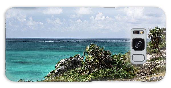 Talum Ruins Mexico Ocean View Galaxy Case